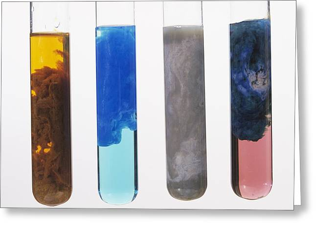 Hydroxide Greeting Cards - Metal Precipitates Greeting Card by Andrew Lambert Photography