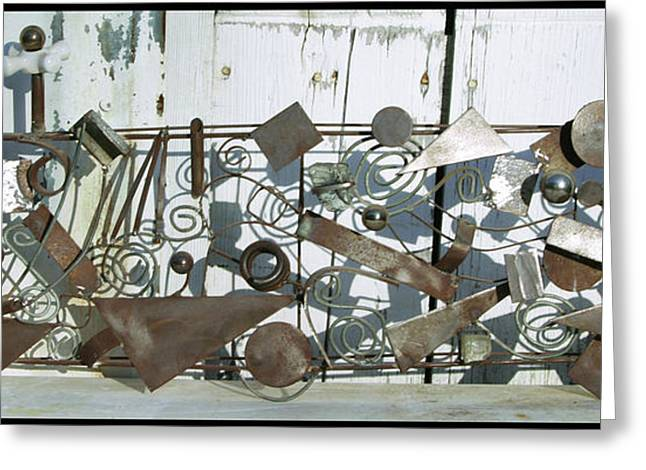 Weld Sculptures Greeting Cards - Metal Sculpture  Greeting Card by Tommy  Urbans