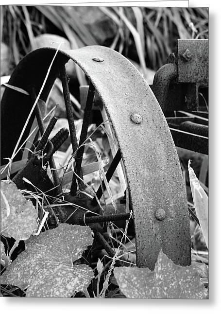 Peychich Greeting Cards - Metal Wheel Greeting Card by Michael Peychich