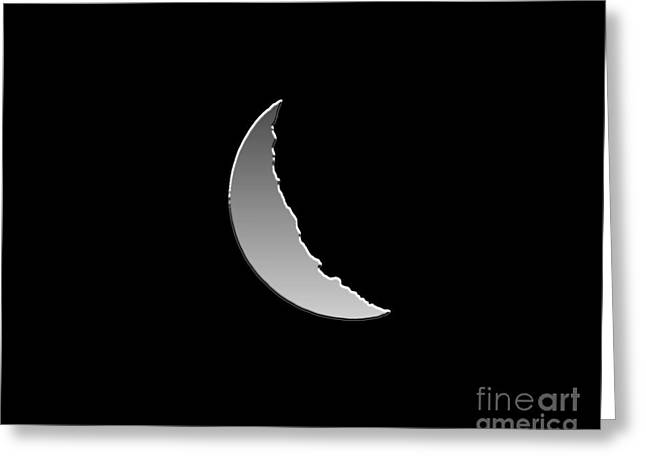 Luna Greeting Cards - Metallic Moon Greeting Card by Al Powell Photography USA