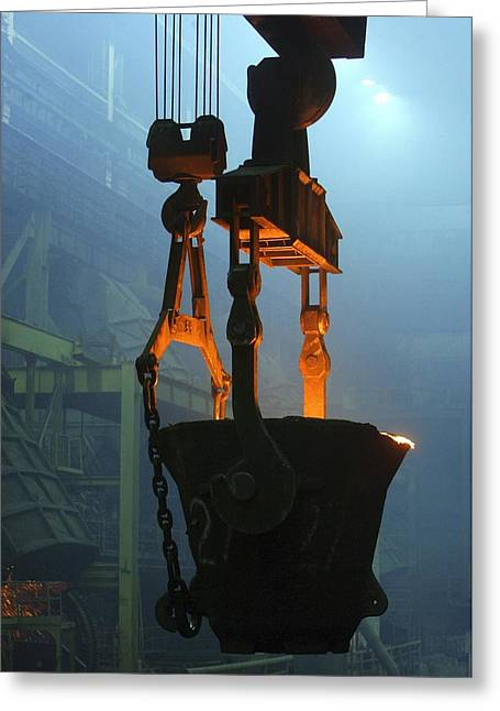 Smelter Greeting Cards - Metalworks Foundry Equipment Greeting Card by Ria Novosti
