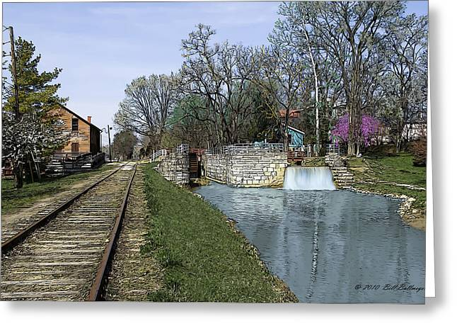 Indiana Springs Digital Art Greeting Cards - Metamora Mill Greeting Card by Bill