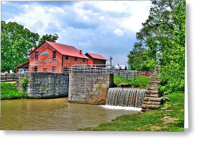 Rural Indiana Greeting Cards - Metamora Mill Greeting Card by Mark Orr