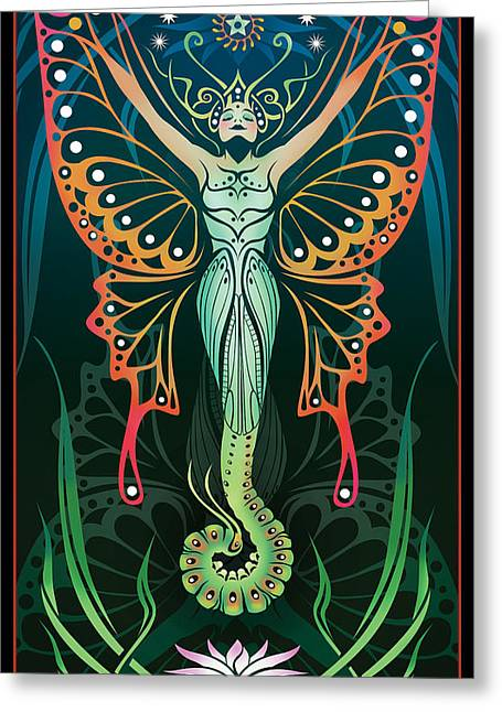Figure Digital Art Greeting Cards - Metamorphosis Greeting Card by Cristina McAllister