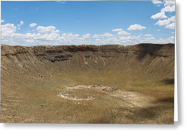 Meteor Greeting Cards - Meteor crater Greeting Card by Olivier Steiner
