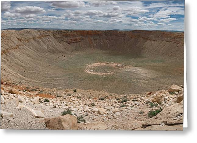 Craters Greeting Cards - Meteor Crater Greeting Card by Ryan Heffron