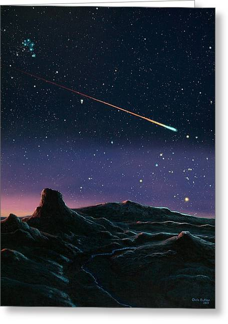 Constellations Greeting Cards - Meteor Fall Greeting Card by Chris Butler