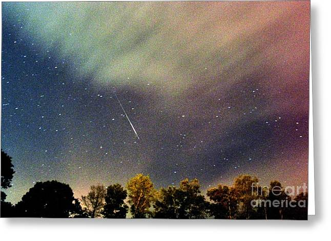 Meteor Perseid Meteor Shower Greeting Card by Thomas R Fletcher