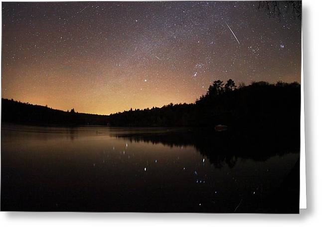 Geminids Greeting Cards - Meteor Shower Greeting Card by Laurent Laveder