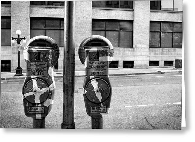 Minnesota Photo Greeting Cards - Metered Parking Greeting Card by Susan Stone