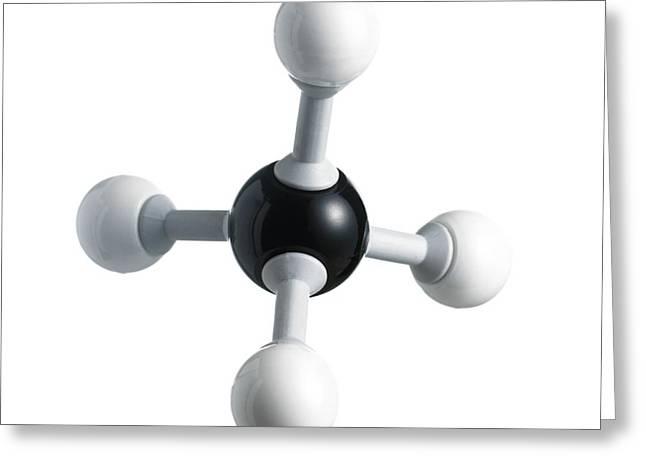 Methane Molecule Greeting Card by