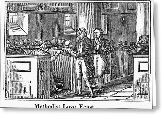 1842 Photographs Greeting Cards - Methodist Love Feast, 1842 Greeting Card by Granger