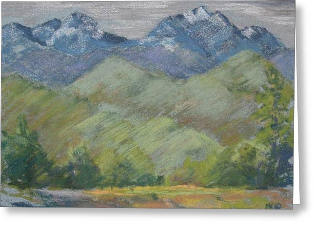 Methow Greeting Cards - Methow River Field Greeting Card by Marlene Kingman