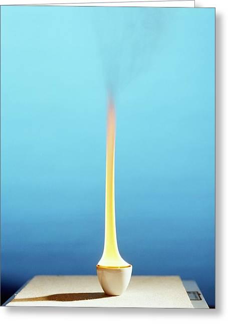 Methylbenzene Burning Greeting Card by Andrew Lambert Photography