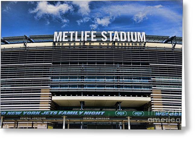 Metlife Stadium Greeting Card by Paul Ward