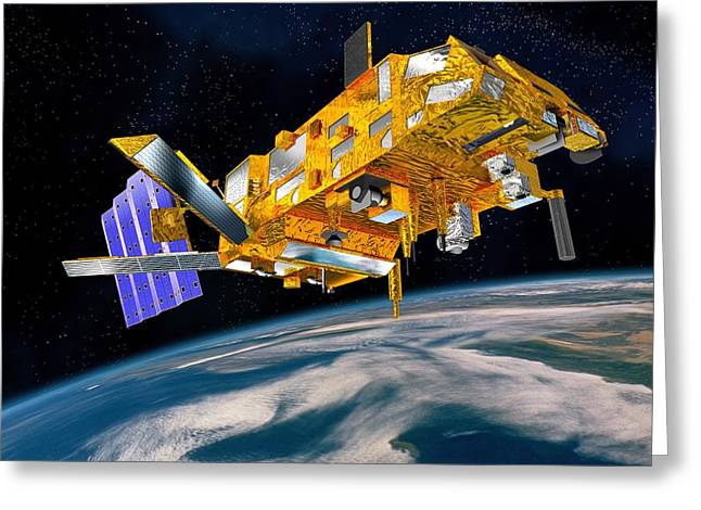 Mhs Greeting Cards - Metop Weather Satellite, Artwork Greeting Card by David Ducros