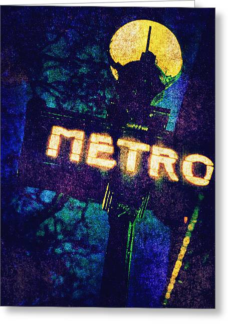 Scarey Greeting Cards - Metro Greeting Card by Skip Nall