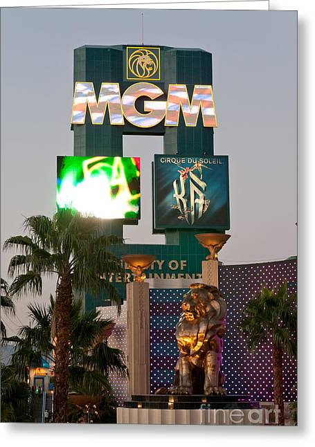 Grand Hotel Greeting Cards - Metro the MGM Lion Greeting Card by Andy Smy