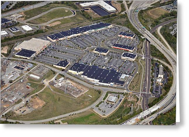 Plymouth Meeting Aerials Greeting Cards - Metroplex Shopping Center Chemical Road Plymouth Meeting Pennsylvania Greeting Card by Duncan Pearson