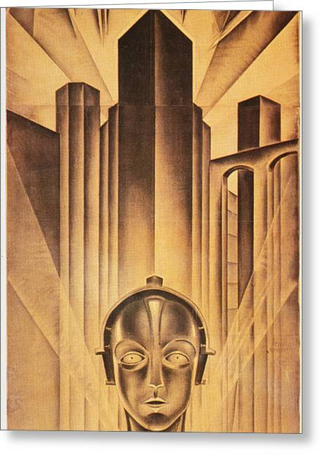 Silent Film Greeting Cards - Metropolis Poster, 1926 Greeting Card by Granger