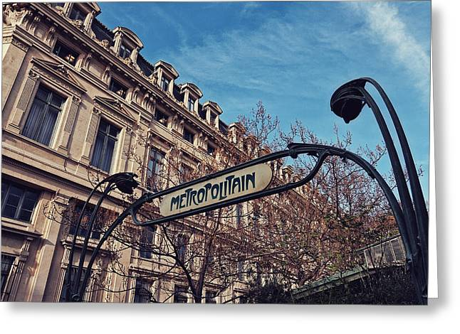 Metropolitaine Greeting Card by Benjamin Matthijs