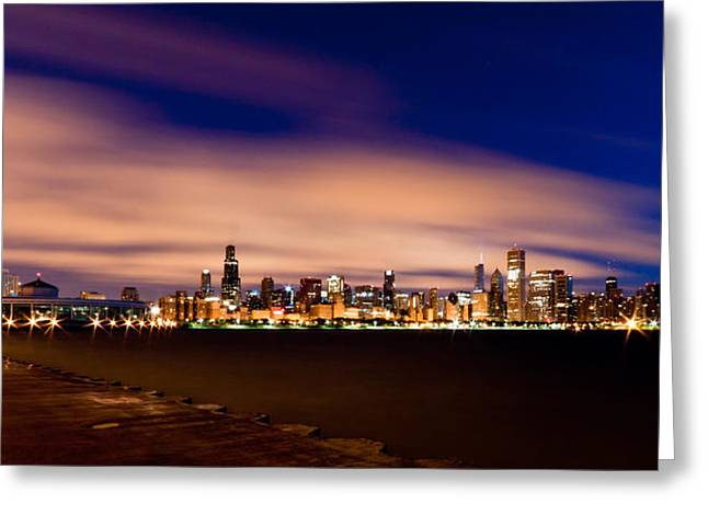 Blue Hour Greeting Cards - Metropolitan Blues Greeting Card by Daniel Chen