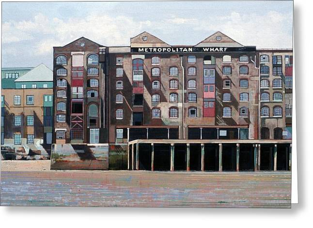 Metropolitan Wharf Greeting Card by Peter Wilson