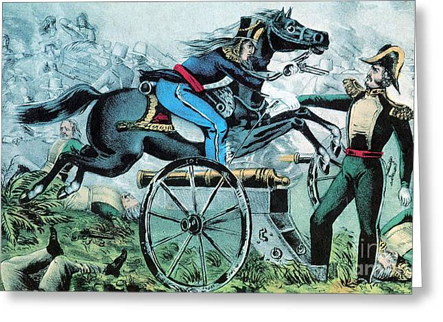 Mexican American Greeting Cards - Mexican-american War, Battle Of Resaca Greeting Card by Photo Researchers