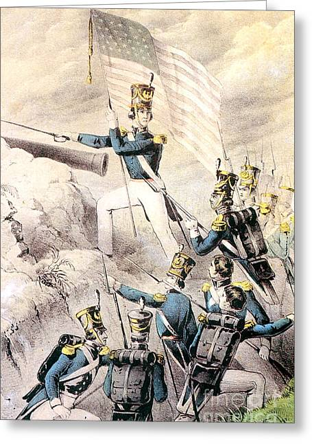 Mexican American Greeting Cards - Mexican-american War, Storming Greeting Card by Photo Researchers