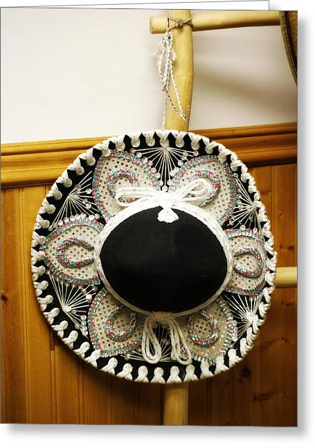 Sequin Greeting Cards - Mexican Hat Greeting Card by Marilyn Hunt