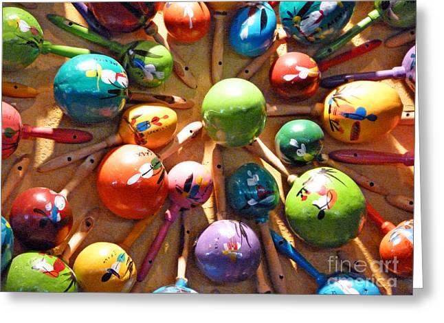 Digital Art Photos Greeting Cards - Mexican Maracas Greeting Card by Methune Hively