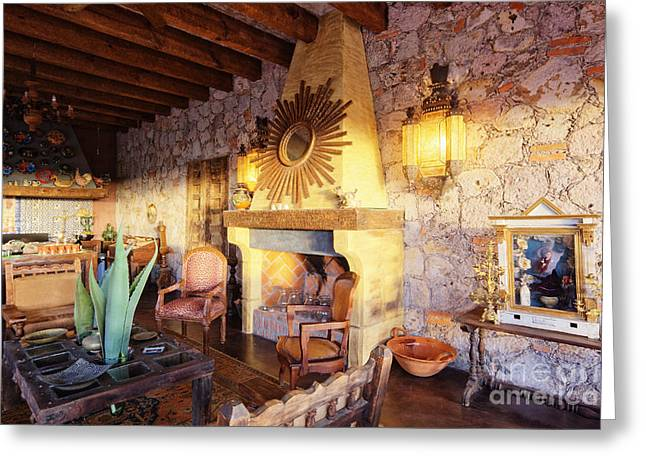 Wall Table Greeting Cards - Mexican Ranch Living Space Greeting Card by Jeremy Woodhouse