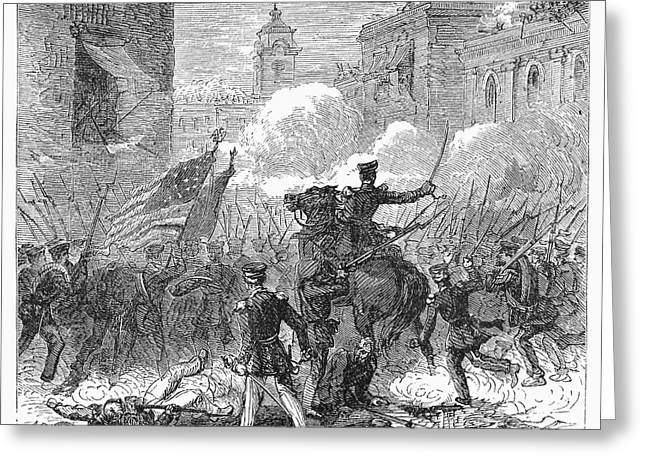 U.s Army Greeting Cards - Mexican War: Monterrey Greeting Card by Granger
