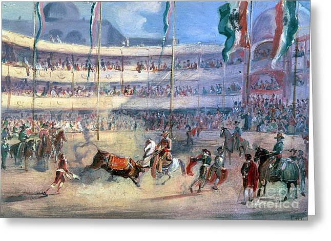 MEXICO: BULLFIGHT, 1833 Greeting Card by Granger