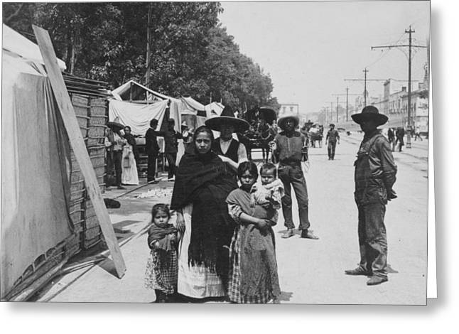 Holy Week Photographs Greeting Cards - Mexico City - Alameda during Holy Week - c 1906 Greeting Card by International  Images
