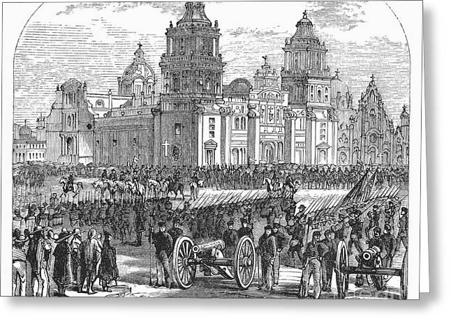 Mexico City Greeting Cards - Mexico City, 1847 Greeting Card by Granger