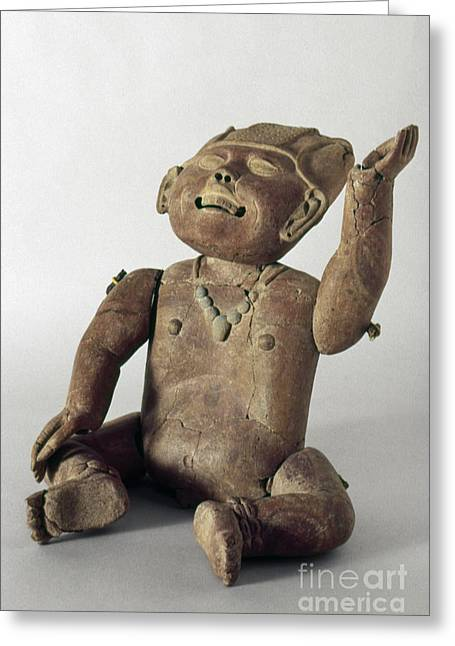Primitive Sculpture Greeting Cards - Mexico: Clay Child Greeting Card by Granger