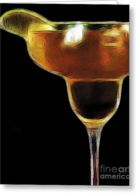 Booze Greeting Cards - Mexico Gold . Lime Margarita Greeting Card by Wingsdomain Art and Photography