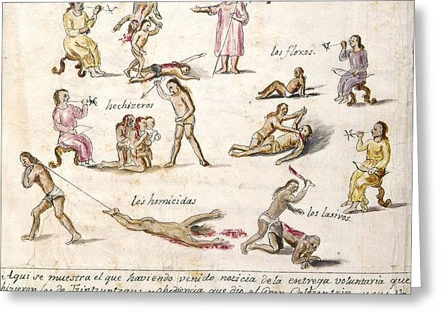 Pablo Greeting Cards - Mexico: Indian Punishments Greeting Card by Granger