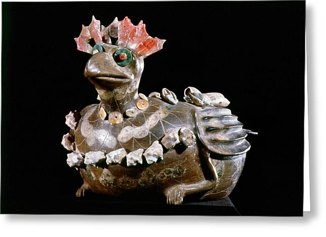 Indian Vase Greeting Cards - Mexico: Teotihuacan Greeting Card by Granger