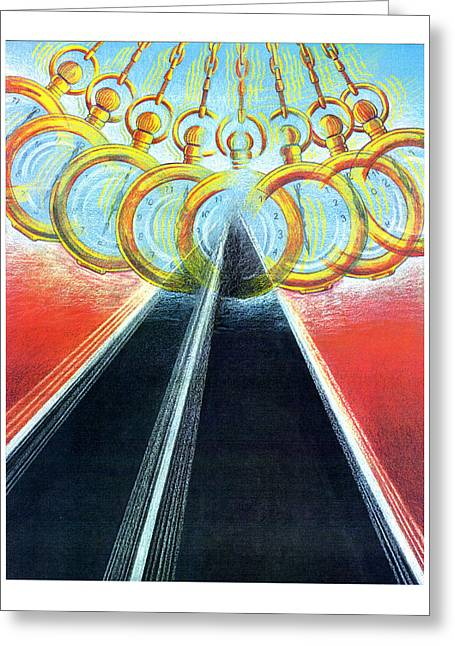 Highway Pastels Greeting Cards - Mezmerizing Tedium Greeting Card by Paul Abrahamsen
