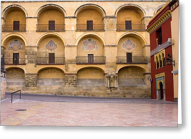 Mezquita Greeting Cards - Mezquita and Plaza del Triunfo Greeting Card by Artur Bogacki
