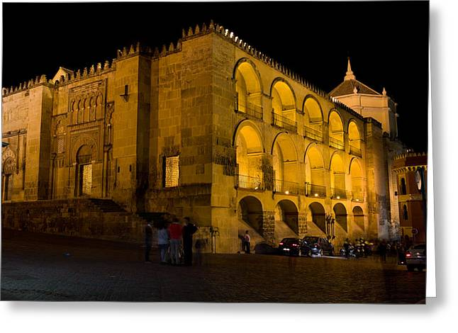 Great Mosque Greeting Cards - Mezquita at Night in Cordoba Greeting Card by Artur Bogacki