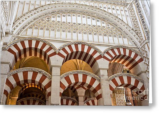 Cordoba Greeting Cards - Mezquita Cathedral Architectural Details Greeting Card by Artur Bogacki
