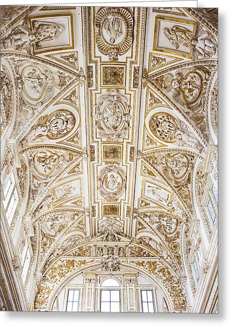 Mezquita Greeting Cards - Mezquita Cathedral Ceiling Greeting Card by Artur Bogacki
