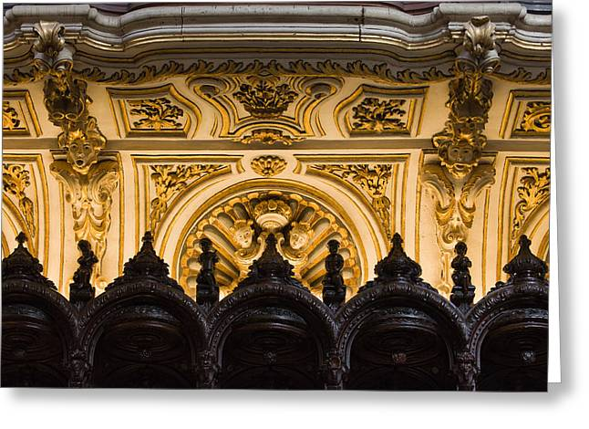 Mezquita Greeting Cards - Mezquita Cathedral Choir Stalls Details Greeting Card by Artur Bogacki