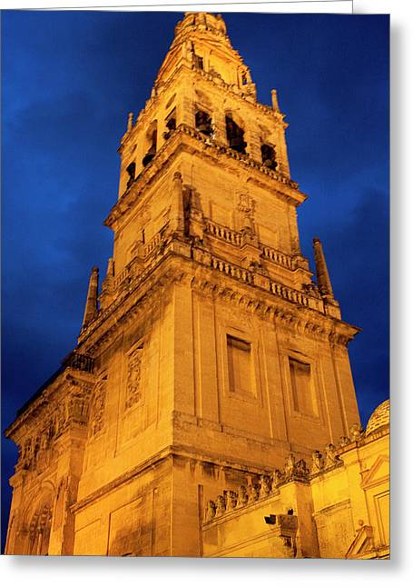 Best Sellers -  - Southern Province Greeting Cards - Mezquita Tower Greeting Card by Lorraine Devon Wilke
