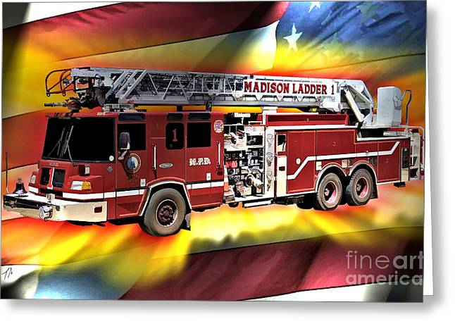 Mfd Ladder Co 1 Greeting Card by Tommy Anderson