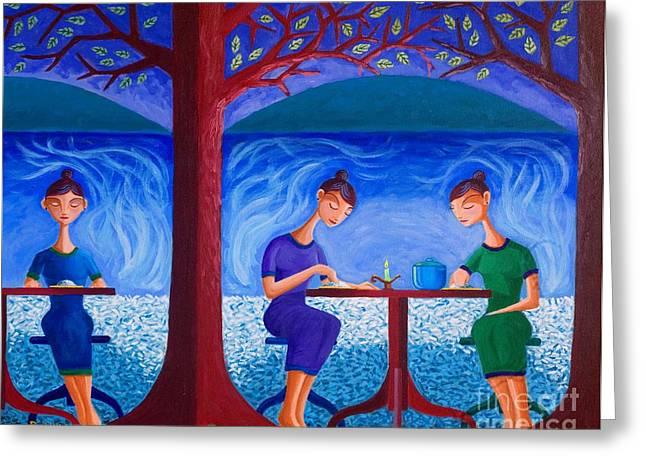 Soul Food Greeting Cards - Mga Kaluluwa at Kaldero Greeting Card by Paul Hilario