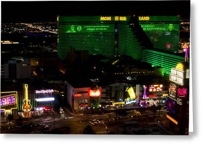 Mgm Greeting Cards - MGM Grand - Las Vegas Greeting Card by Brendan Reals